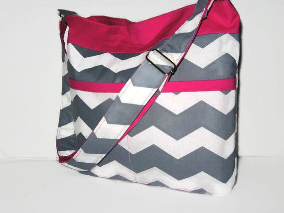 CROSS BODY BAG Cross Body Purse Chevron Bag by CarolinaFashionBags