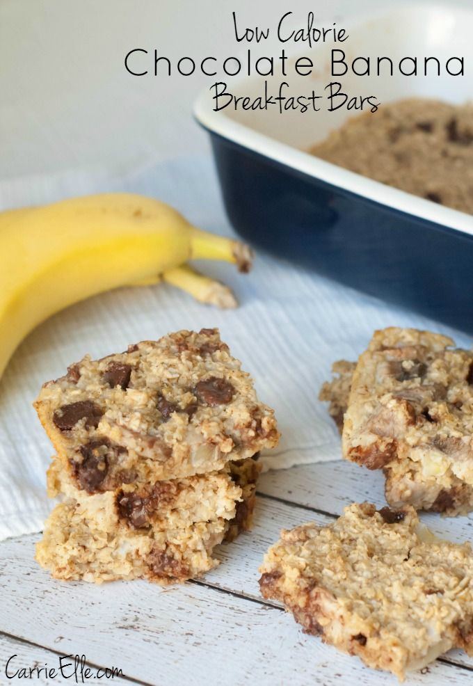 Chocolate Banana Breakfast Bars - This is the perfect quick and easy breakfast recipe. Totally kid friendly too!