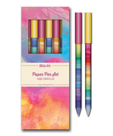 Aquarelle Paper Pen - Set of Six #zulily #zulilyfinds
