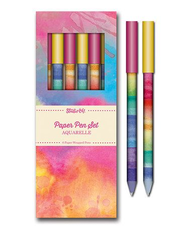 Aquarelle Paper Pen - Set of Six #zulily #zulilyfinds