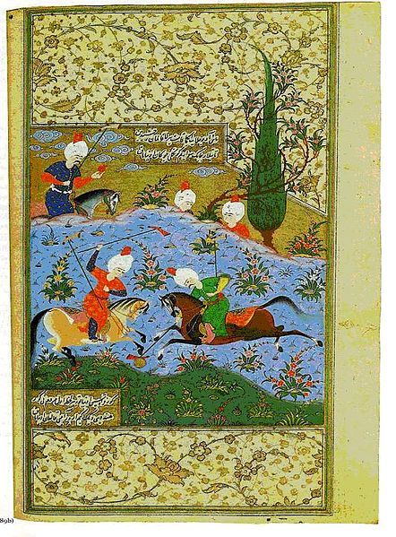 A page from Nava'i's diwan. From the library of Suleiman the Magnificent. صفحه‌ای از دیوان امیر علیشیر در کتابخانه سلیمان قانونی