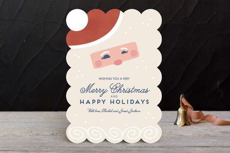 Cute Holiday Cards - Santa Beard Holiday Cards by Katie Zimpel at minted.com