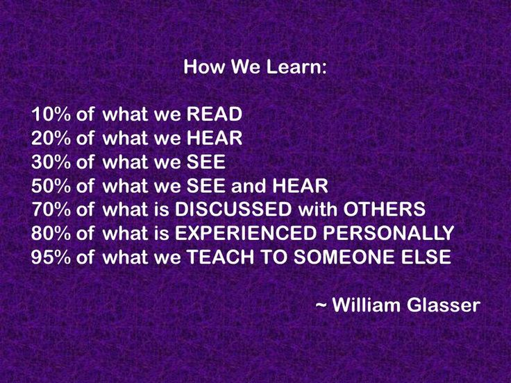 How We Learn   by William Glasser