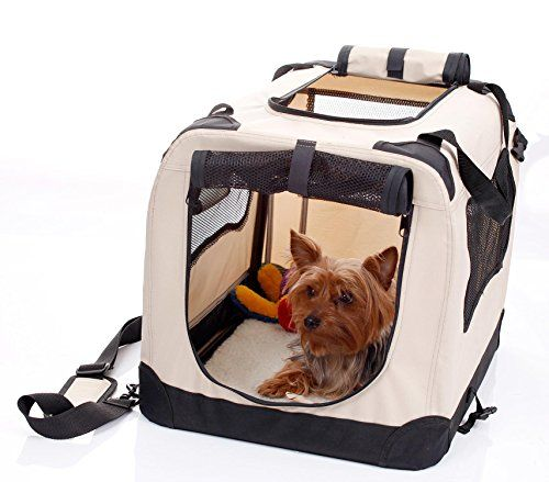2PET Folding Soft Dog Crate for indoor travel training for pets up to 15 lbs Small 20 Inches Beige ** Find out more about the great product at the image link.(This is an Amazon affiliate link and I receive a commission for the sales)