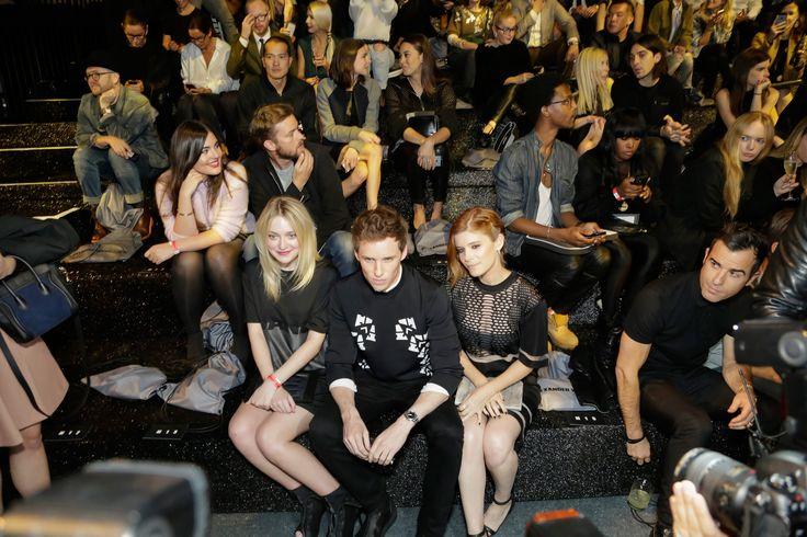 Alexander Wang x H&M Collection Front Row Dakota Fanning, Eddie Redmayne, Kate Mara and Justin Theroux