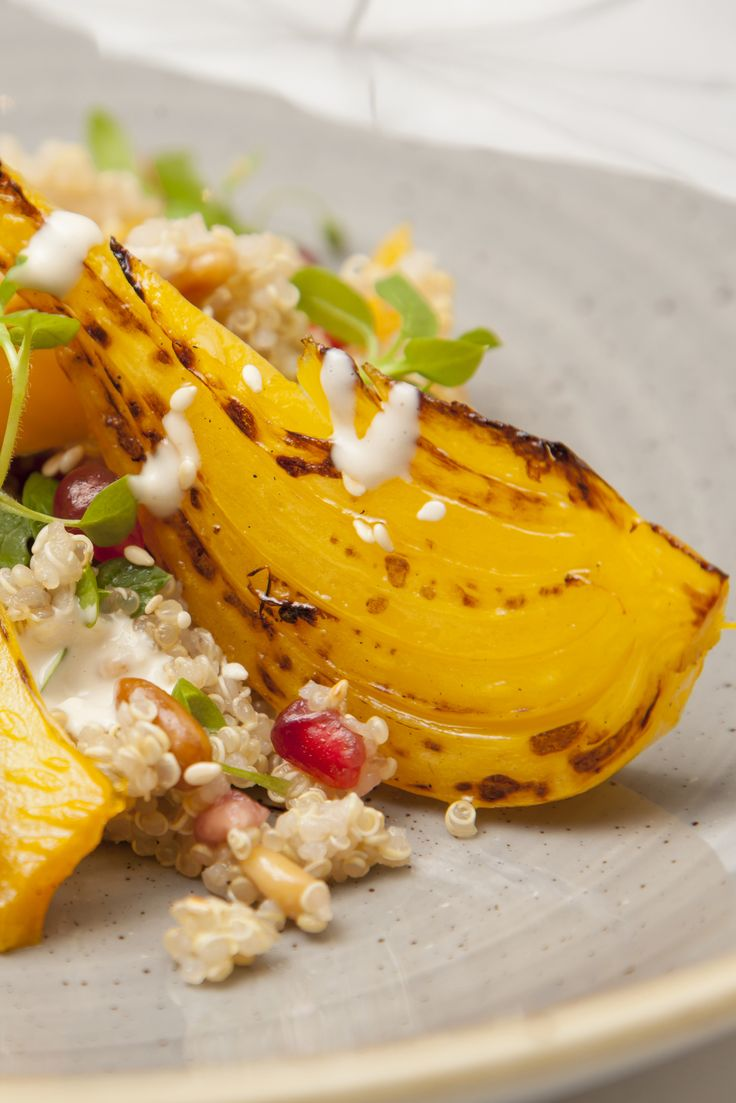Shaun Rankin's vibrant quinoa salad recipe is bursting with Middle Eastern flavours, with sesame, pomegranate and saffron adding another dimension to the nutty flavour of the grain. Cooking the fennel in a water bath with a little orange juice provides wonderful, tender texture as well as infusing the bulb with a zesty hit of citrus.