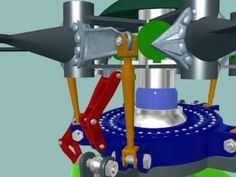 VIDEO - S-61 Sea King Helicopter Rotor Head Animation