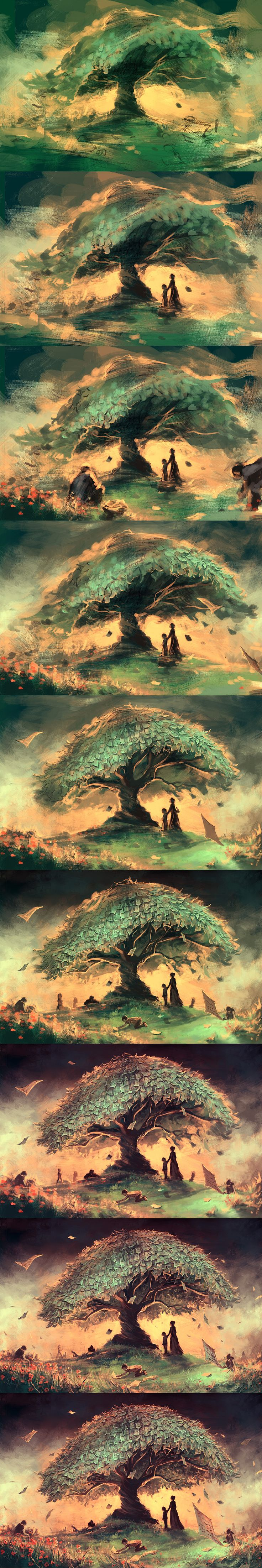 WIP of why don't you listen to the taleteller tree by AquaSixio.deviantart.com on @deviantART