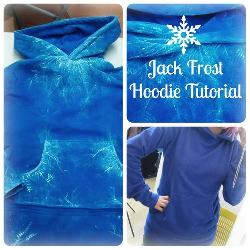 I made a tutorial on my Jack Frost hoodie!