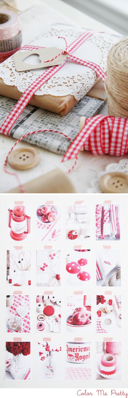 pretty packaging: Kraft Paper, Cute Packaging, Giftwrap, Paper Doilies, Color, Christmas, Gifts Wraps, Gifts Tags, Wraps Idea