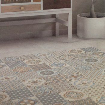 Our new Cadiz multi patchwork range is available in two colourways with three complimentary plain tiles. The Cadiz range offers the beauty of encaustic tiles at the fraction of the cost.