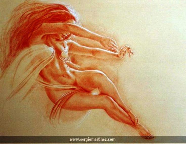 Pintura y fotograf a art stica dibujos con sanguina - Fotografia desnudo masculino ...