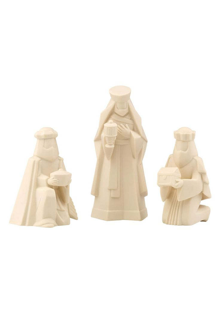 Three Kings Set Three Kings Set; 3 Kings rendered in an artful, contemporary style in this captivating figurine set; Makes a lovely gift, and an inspiring reminder of the true meaning of the holidays; Perfect table top accent pieces Porcelain #Figurine #TableHome #HomeAccessories