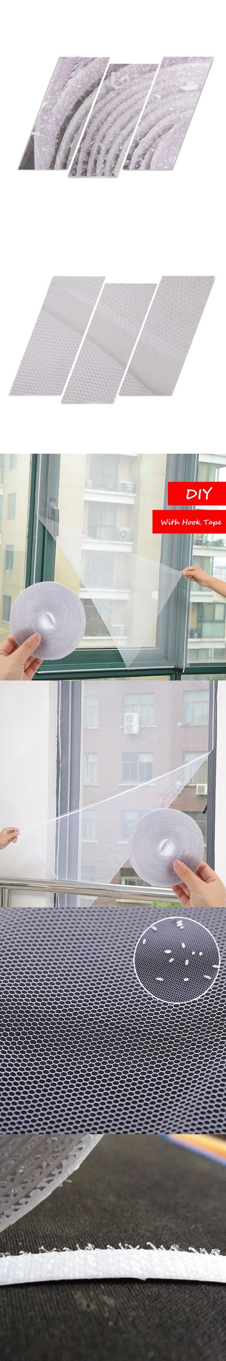 DIY Adhesive Anti-Mosquito Fly Bug Insect Curtain Mesh Window Screen Home Supplies may25