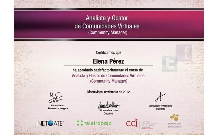 Community Manager, Analista y Gestor de Comunidades Virtuales, Gestor en Redes Sociales