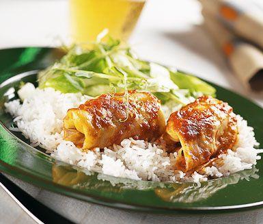 Recept: Färsdolmar i tomatsås (OBS! Inget salt, ris eller socker till bebis!)