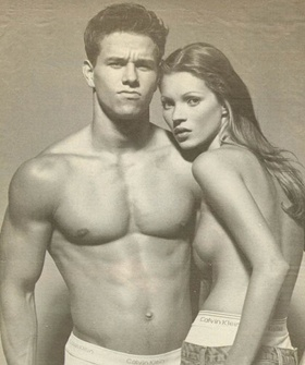 I had this poster on my wall in jr. high. only because I was in love w. Marky Mark. Had no idea who the model was or what she would become!