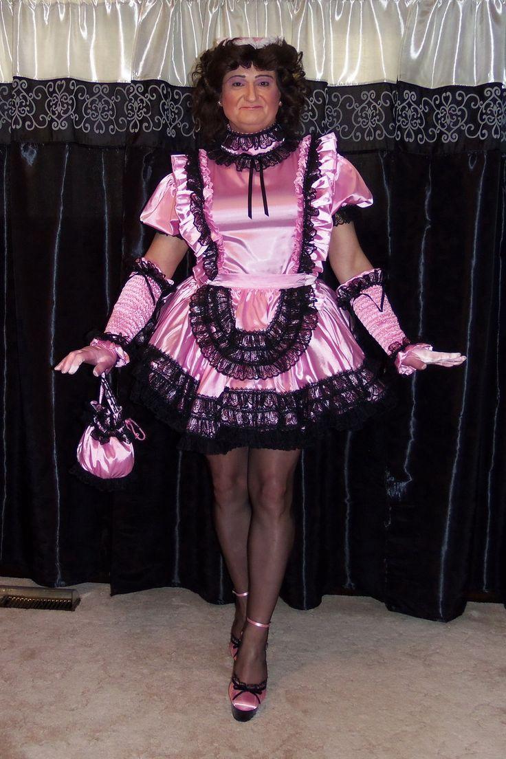 Posing In My Gorgeous Miss Twinkle Sissy Maid Uniform