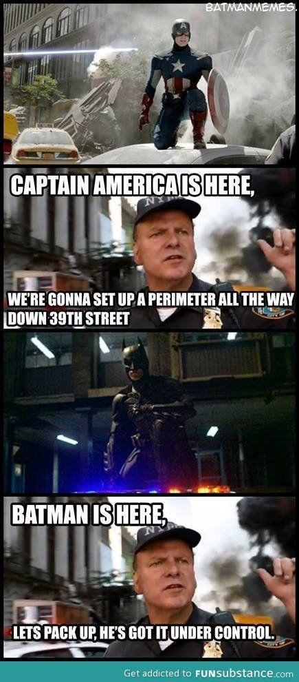 When Batman comes haha