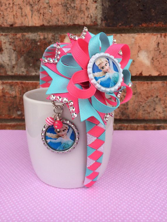 Frozen headband and Frozen hair bow with by TheJMarieBoutique, $15.99