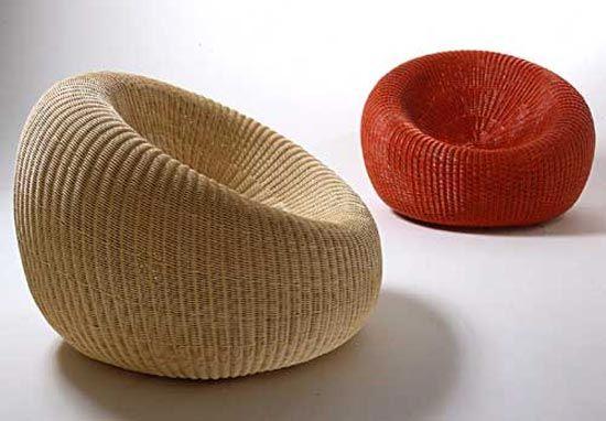M s de 1000 ideas sobre sillas tapizadas en pinterest - Puff de mimbre ...