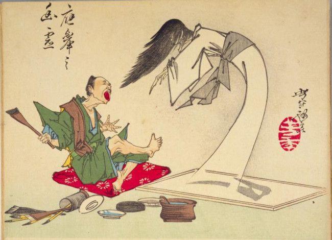 月岡芳年 「芳年略画 応挙の幽霊」