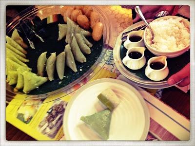 Indonesian traditional snack at Remboelan cafe Plaza Senayan Jakarta
