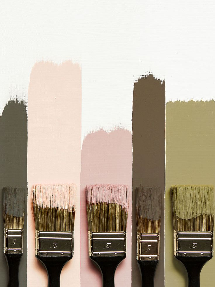 blush pink + deep greens | Paint color palette