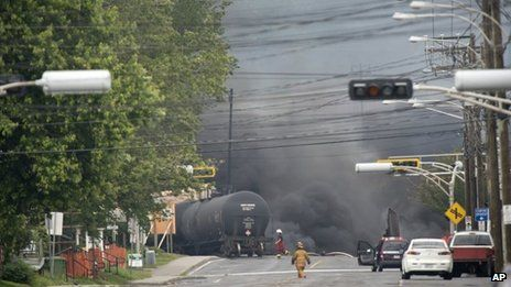 Petrochemical train explodes in Quebec's Lac-Megantic