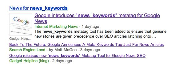 News_keywords Metatag: Google News Neuer Ranking-Faktor