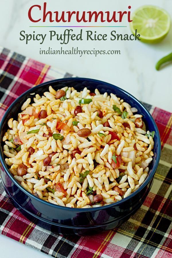 Churumuri Recipe How To Make Churumuri Spiced Puffed Rice Recipe Rice Puff Recipes Indian Food Recipes Vegetarian Food