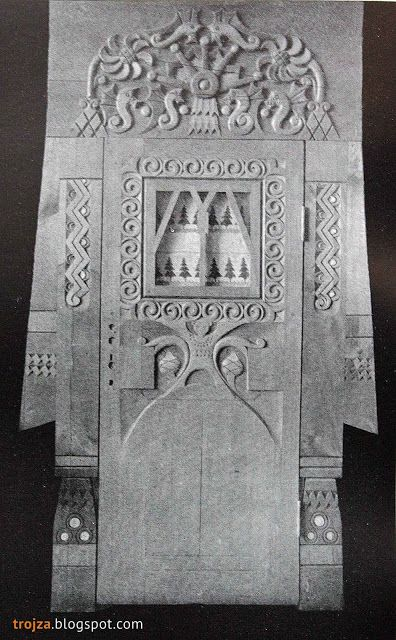 Наличник и дверь балконная, 1903 г. Подмосковный краевед: Терем в Талашкине 109…