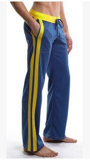 Men's Full Length Exercise Long Pants Trousers cotton sexy bodybuilding home wear yoga designer joggers