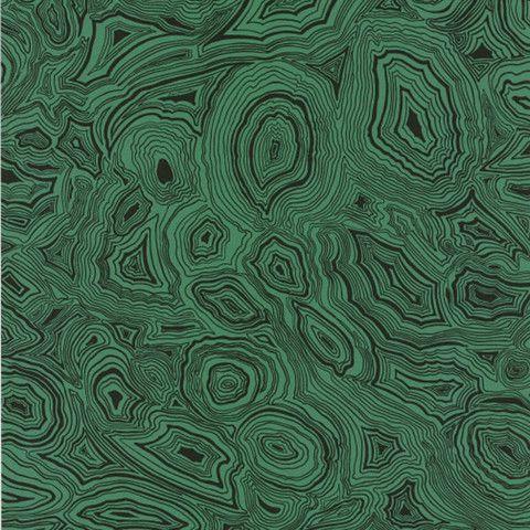 Cole Son Fornasetti Malachite Wallpaper In Green