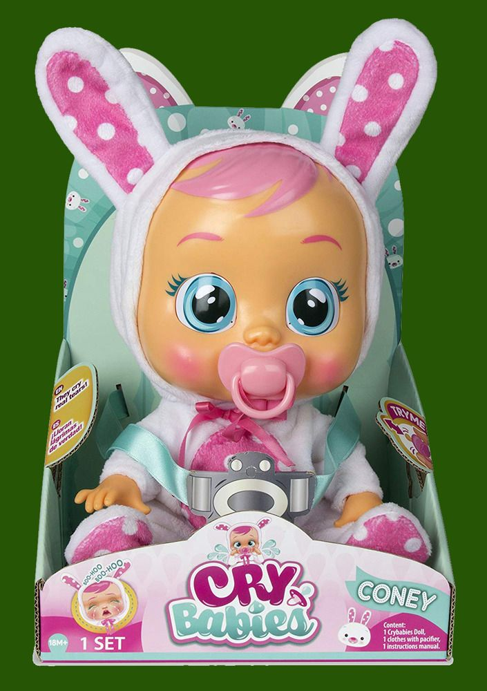b8875a88c5 Cry Babies Toy Girls Doll Attached Pacifier Removable ( Coney Baby )   CryBabies