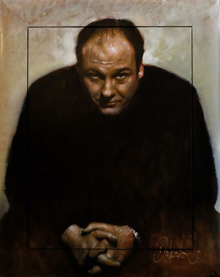 Tony Soprano - Peter Donkersloot 150 x 120 cm. Available. Excellent Art Holland
