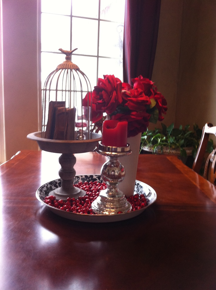 Winter And Valentine Table Decoration Decor Pinterest