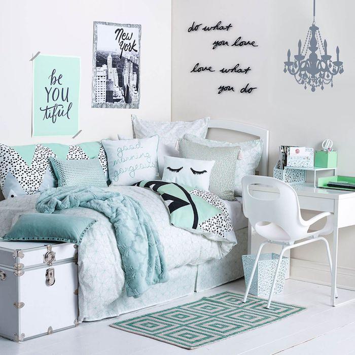 Zimmer Grau Blau: 1001 + Ideen Für Jugendzimmer Mädchen Einrichtung Und Deko