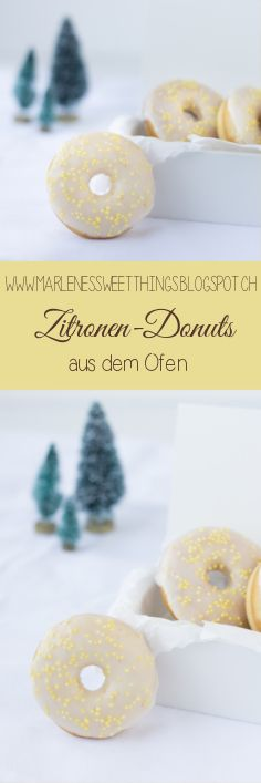 Zitronen Donuts from the Oven - Lemon Donuts aus dem Ofen