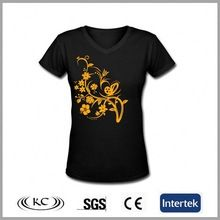 good price new print 95% cotton 5% spandex black v-neck t-shirts  Best buy follow this link http://shopingayo.space