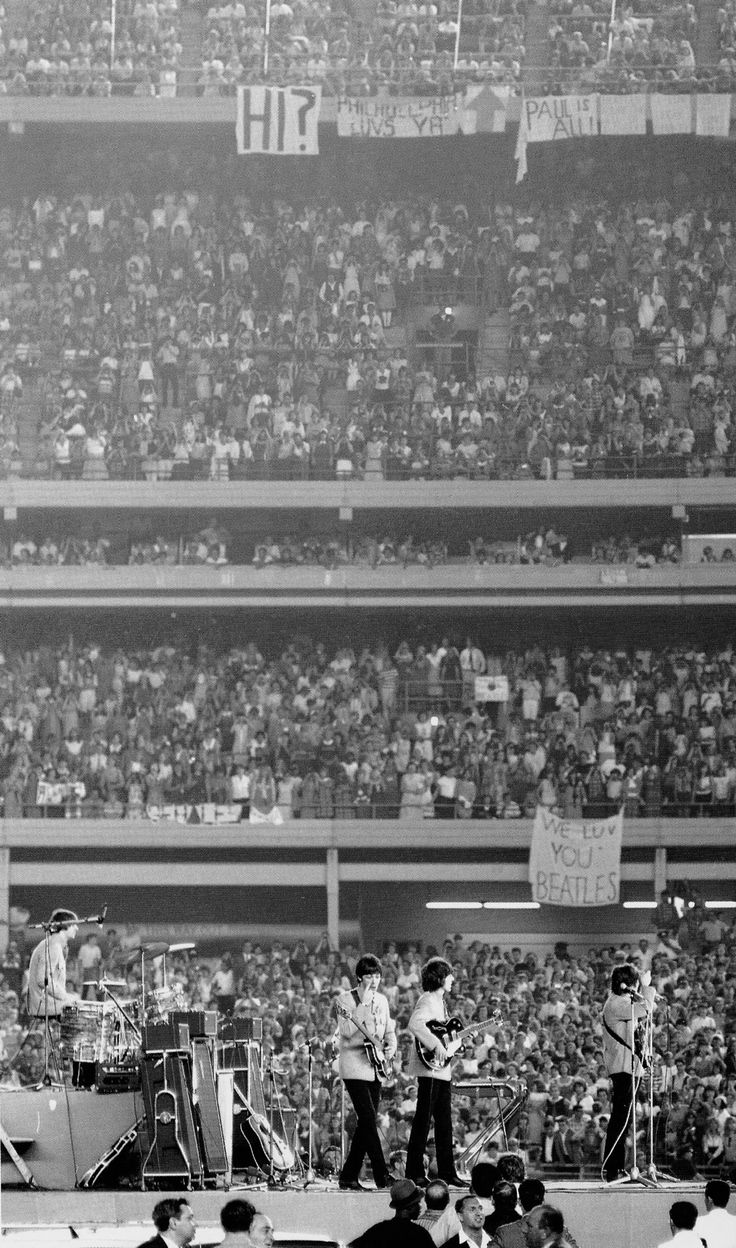 Huge, great, fab! #TheBeatles at Shea Stadium, 15 August 1965.