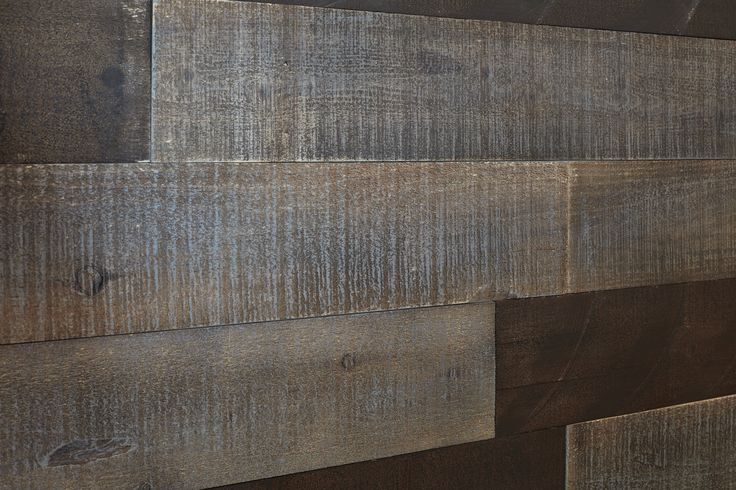 A close up of the Stikwood used to create our accent wall in the Chappelle Gardens Cadenza!