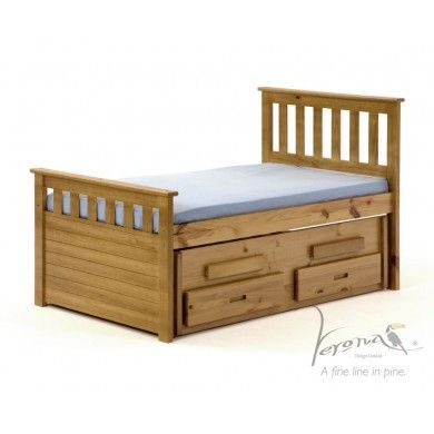 Verona Bergamo Short Cabin Bed With Pull Out Sleepover Bed
