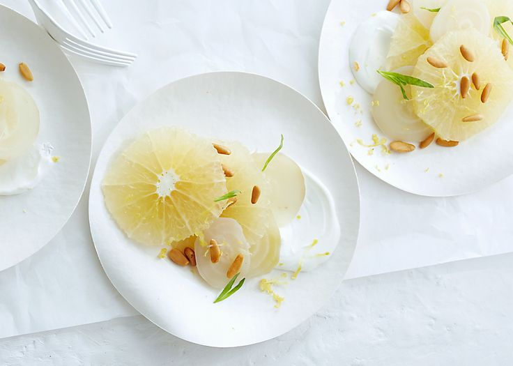 Grapefruit and White Beets with Yogurt and Tarragon Recipe - Bon Appétit