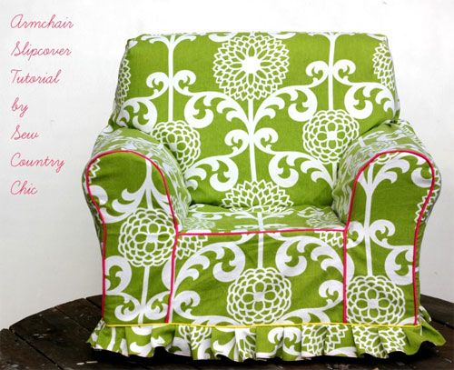 Free Sewing Pattern and Tutorial - Armchair Slipcover