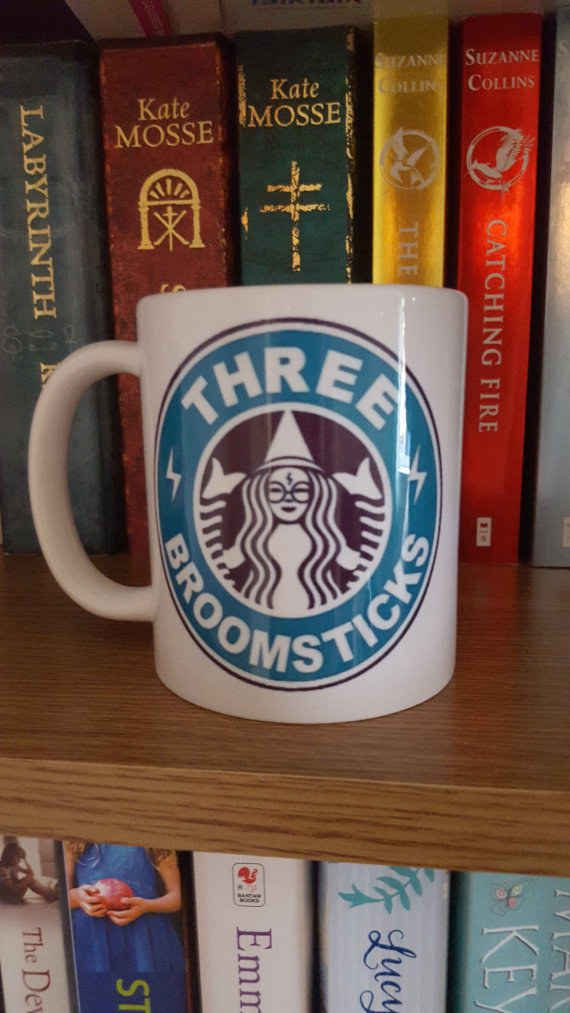 Three Broomsticks Coffee Mug — $7.77