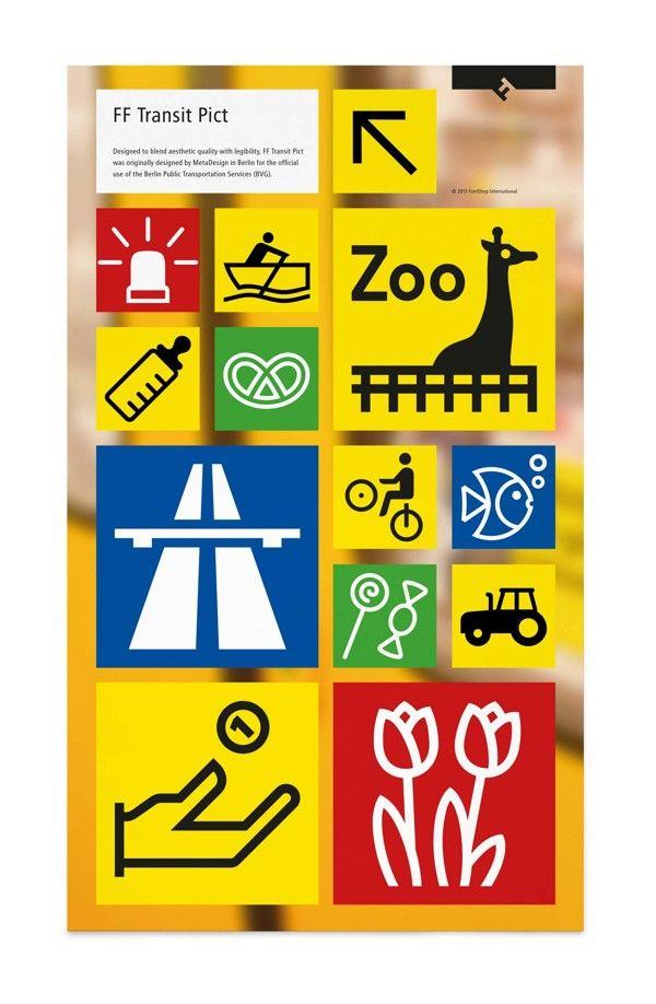 FF Transit Pict sticker sheet by FontFont , via Behance