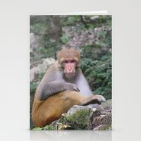 Stationery Card featuring INDIA - Monkey on a Hike by Shana's Shop