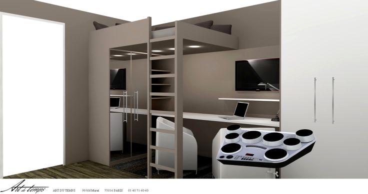 le 25 migliori idee su mezzanine sur mesure su pinterest lit mezzanine enfant letti. Black Bedroom Furniture Sets. Home Design Ideas