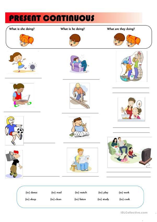 Present Continuous Tense Present Continuous Tense Community Helpers Worksheets Learn Swedish